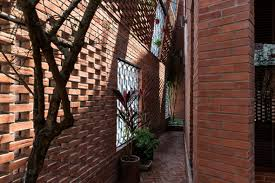 100 Brick Walls In Homes HP Architects Wraps Perforated Brick Walls Around