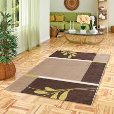 designer teppich softstar country grün braun blumen
