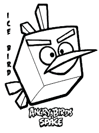 Angry Birds Coloring Pages Blackbird Space Free Online Ice Bird Kids Printable Characters Full Size
