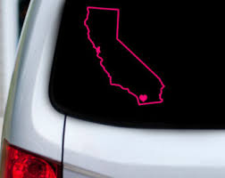 California Love Outline Vinyl Car Decal