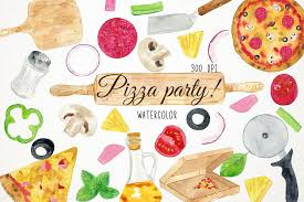 Watercolor Pizza Clipart Clip Art Fast Food Example Image