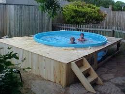Swimming Pool Decking Ideas Pallet Deck Railing
