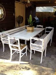 Groovy Dining Table With Bench Seats As Well Attractive Outdoor Seating