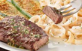 6 oz Sirloin with Fettuccine Alfredo