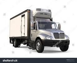 Silver Refrigerator Trailer Truck Beauty Shot Stock Illustration ...