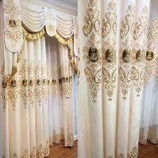 europäischen luxus gold druck vorhang hohe blackout vorhänge