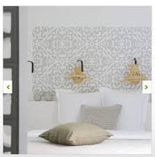pochoir mural chambre tete de lit avec pochoir taille xl zellige couleur gris