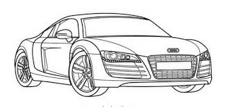 Bugatti Veyron Super Car Coloring Page Print Color Online Audi R8 Pages For Kids