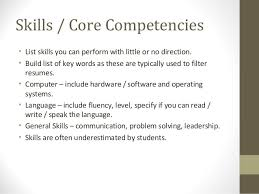 Competencies List For Resume by Professional Curriculum Vitae Writers Website For School Cover