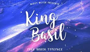 Free Retro And Vintage Fonts King Basil