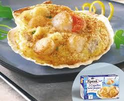 cuisiner les coquilles st jacques surgel馥s 2 coquilles jacques à la bretonne produits tipiak