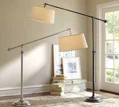 Autry Floor Lamp Crate And Barrel by Cfl Chelsea Sectional Floor Task Lamp With Burlap Shade Bronze