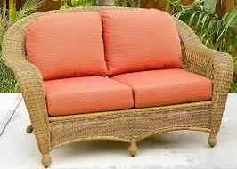 Pottery Barn Charleston Sofa Dimensions by Silver Coast Charleston 4 Piece Custom Outdoor Walnut Wicker Patio