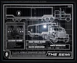 100 Knight Rider Truck The Semi SCHEMATIC 8 X 10 METALLIC PHOTO Companion