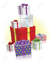 Stack of wrapped ts for Christmas Birthday or other celebration Stock Vector
