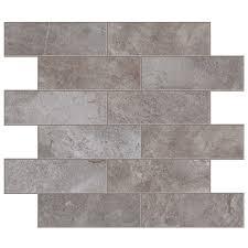 shop style selections bagnoli noce brick mosaic porcelain floor