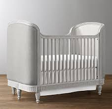 Upholstered Crib Antique Grey Mist