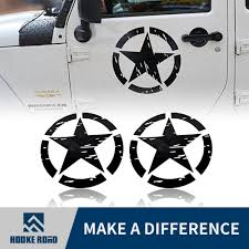 100 Ford Stickers For Trucks Hooke Road US Army Military Star Car Sticker Decal For Car Truck F150 Jeep Wrangler 2PCS