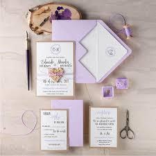Purple Wedding Invitation Suite 20 Rustic Set Pink Invitations Wooden Heart Invites Blush