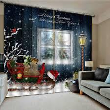 weihnachtsmuster wohnzimmer fenster vorhänge balkon vorhänge