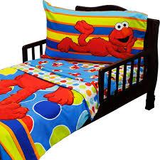 4pc sesame street toddler bedding set elmo polka dots comforter