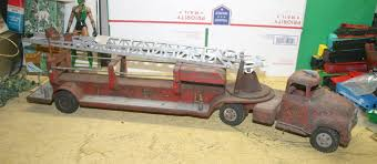 Vintage 1950s Tonka Hook Ladder MFD Red Fire Engine Truck No 5 32 ... Vintage 1950s Tonka Fire Truck No 5 Steel Pumper Ford Metal Rare Original Tfd Tonka Engine Toy 33 Inch Vintage Bodnarus Auctioneering Fire Truck Ladder Water Cannon Crank Siren Fire Truck Is In Auctions Online Proxibid 1970s 1960s No5 Original Joe Lopez On Twitter 55250 Pressed Steel And Box Of Toys Truckitem 333c43 Look What I Found 70s Huge Toy Steel Engine 1 Listing