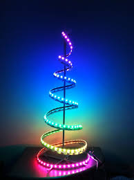 Multicolor Lighted Spiral Christmas Tree by Spiral Christmas Tree Led Christmas Ideas