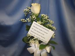 Memorial Rose Bud Vase Delivery available to local funeral homes