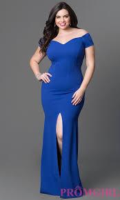 long off the shoulder plus size dress promgirl