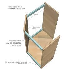 Corner Kitchen Sink Cabinet Ideas by Ana White Wall Kitchen Corner Cabinet Diy Projects