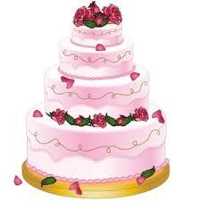 Wedding Cake Clipart Image Extravagant Wedding Cake with Roses