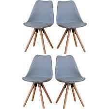 4er set esszimmerstuhl nelle küchenstuhl esszimmer küche stuhl stühle eiche grau