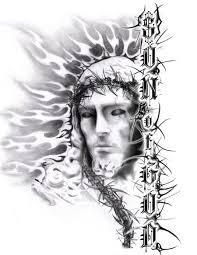 Tribal Jesus Tattoo Designs 8
