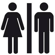 sticker homme femme toilette wc vestiaire