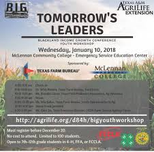 bureau am ag tomorrow s leaders 2018 blackland income growth conference youth