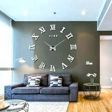 Contemporary Wall Clock Large Clocks Oversized Modern