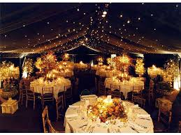 Having An Outdoor Tented Reception Create Your Own Starry Night With The Help Of String Lights One Big Challenges Tent Is