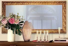 casa padrino luxus barock spiegel gold 148 x 5 5 x h 90 cm edler massivholz wandspiegel im barockstil antik stil garderoben spiegel wohnzimmer