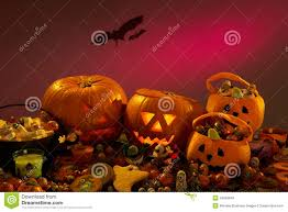 Halloween Party Decorations With Pumpkins Stock Photo Image Of