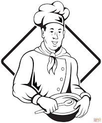 Italian Pizza Chef Coloring Page Within