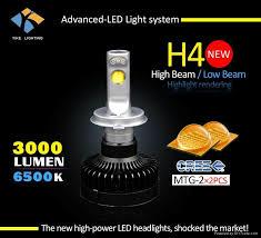 3000 lumen led car headlight bulb hid xenon replacement led