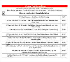 19 Bakery Order Templates – Free Sample Example Format Download