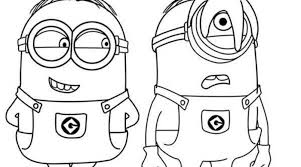 Kids Colouring Pictures Minions