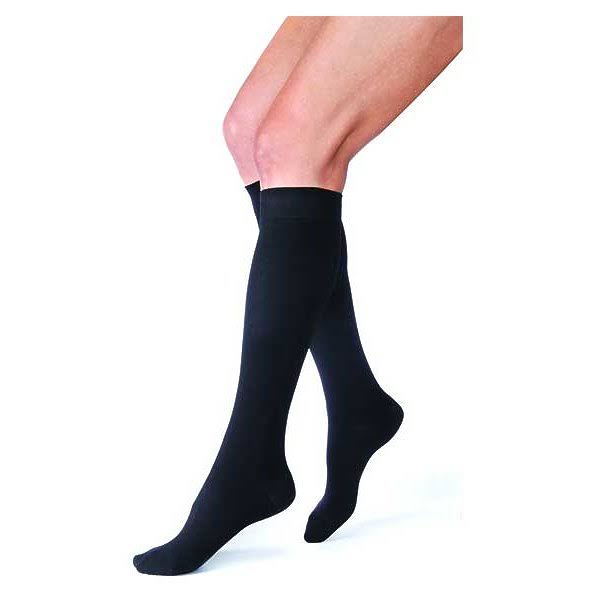 Jobst Relief Closed Toe Knee High Unisex Support Sock - Small, Black, 15-20 mmHg