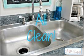 Kitchen Sink Stinks Any Suggestions by How To Clean Your Stainless Steel Kitchen Sink Mom 4 Real