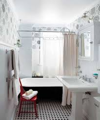 Guest Bathroom Ideas With Wallpaper And Tall Wainscoting And ... Bathroom Small Round Sink How Much Is A Vessel Pedestal Decor Single Faucets Verdana Vanity Artturi Space Saving With Overflow For 16 White Designs Cottage Bathrooms Design Ideas Image Of Sinks For Bathrooms Examplary Then Wall Mount Mirror Along With Decorating Toto Ceramic Bathroom Sink Remodel Double Idea Shower Top Kohler Inspiring Idea Cabinet Sizes Appealing Depot Walnut Weatherby Lowes