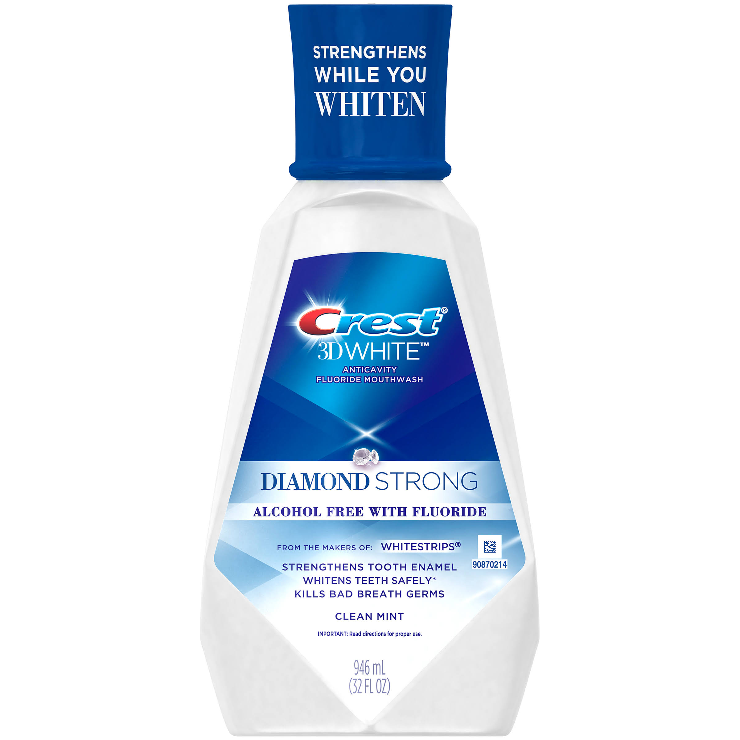 Crest 3D White Luxe Clean Mint Anticavity Fluoride Rinse - 32oz