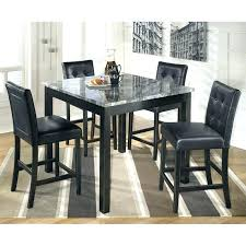 Round Dining Table Ashley Furniture Tables Set 3 Piece Drop Leaf 5 Square Counter In Black Windville Ash