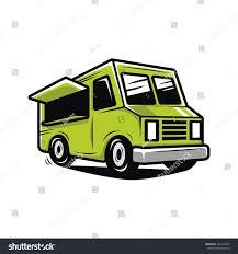 100 Green Food Truck Illustration Vector Stock Vector Royalty