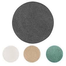 teppich rund 100 cm 133 cm modern einfarbig kurzflor